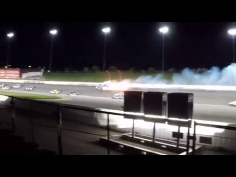 Danica Patrick Kansas Crash   Aric Almirola   Joey Logano NASCAR
