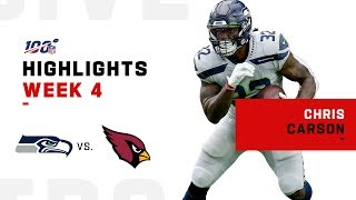 Chris Carson's 100-Yard Day | NFL 2019 Highlights