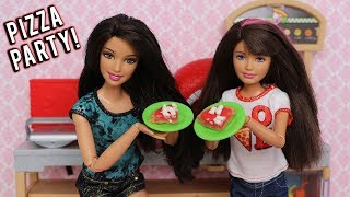 Barbie Doll Pizza Party with Skipper and Kelsey