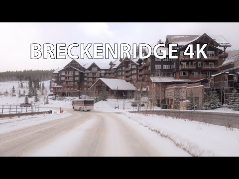 Breckenridge 4K - Swiss Alpine Ski Town - Scenic Drive - USA