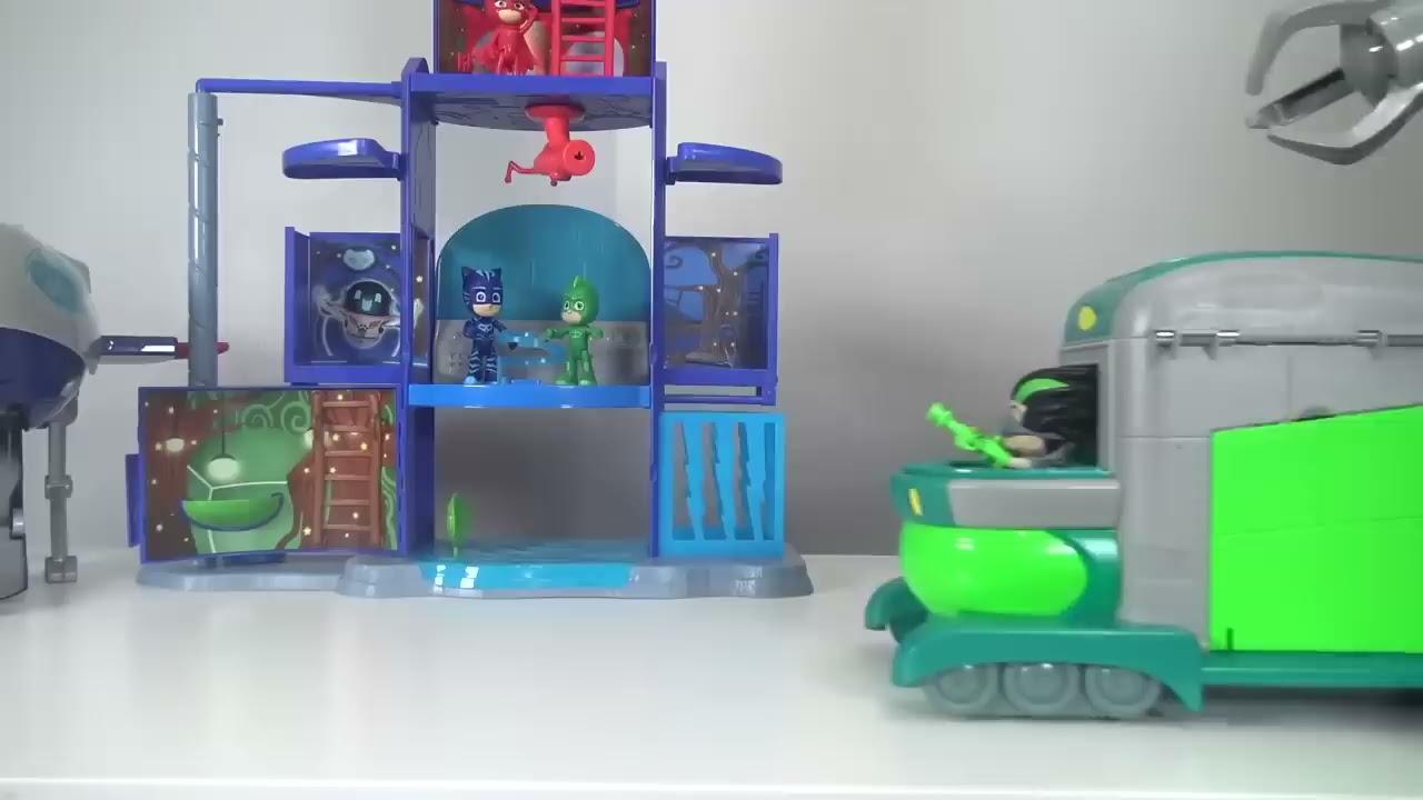 Download Pj Masks Toys Videos Compilations! Giant Surprise Toys Headquarters Playset Owlette, Gekko, Catboy