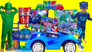 Pj Masks Toys Videos Compilations! Giant Surprise Toys Headquarters Playset Owlette, Gekko, Catboy