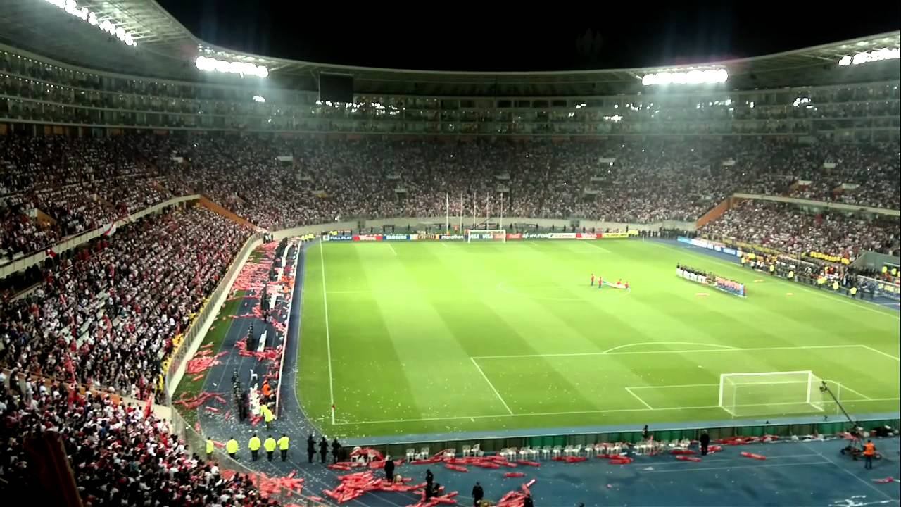 Himno nacional per vs paraguay 07 oct 2011 en estadio for Puerta 9 del estadio nacional de lima