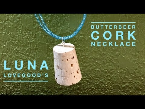Luna Lovegood butter beer cork necklace made to order