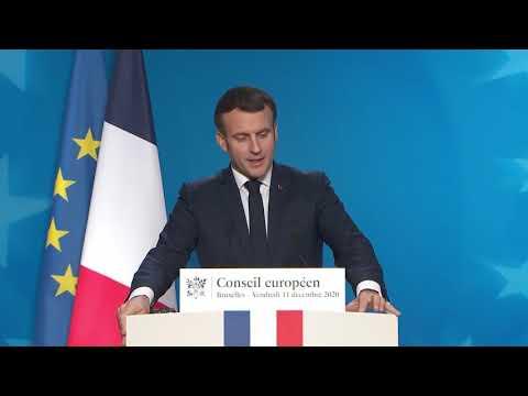 Conseil européen du 11 décembre 2020 - Conférence de presse - Emmanuel Macron