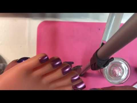 Dise o de u as de pies efecto espejo rese a esmalte santee for Espejo de pie