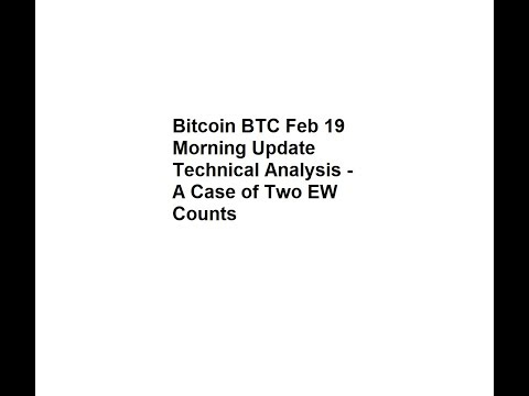 Bitcoin BTC Feb 19 Morning Update Technical Analysis - A Case of Two EW Counts