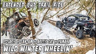 Wild Winter Wheelin in Canada - SXS/UTV - Feature Length Trail Ride - #TeamAJP Trail Vlog 011