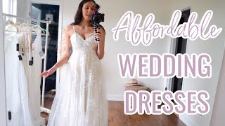 LULUS AFFORDABLE WEDDING DRESS HAUL UNDER $450!