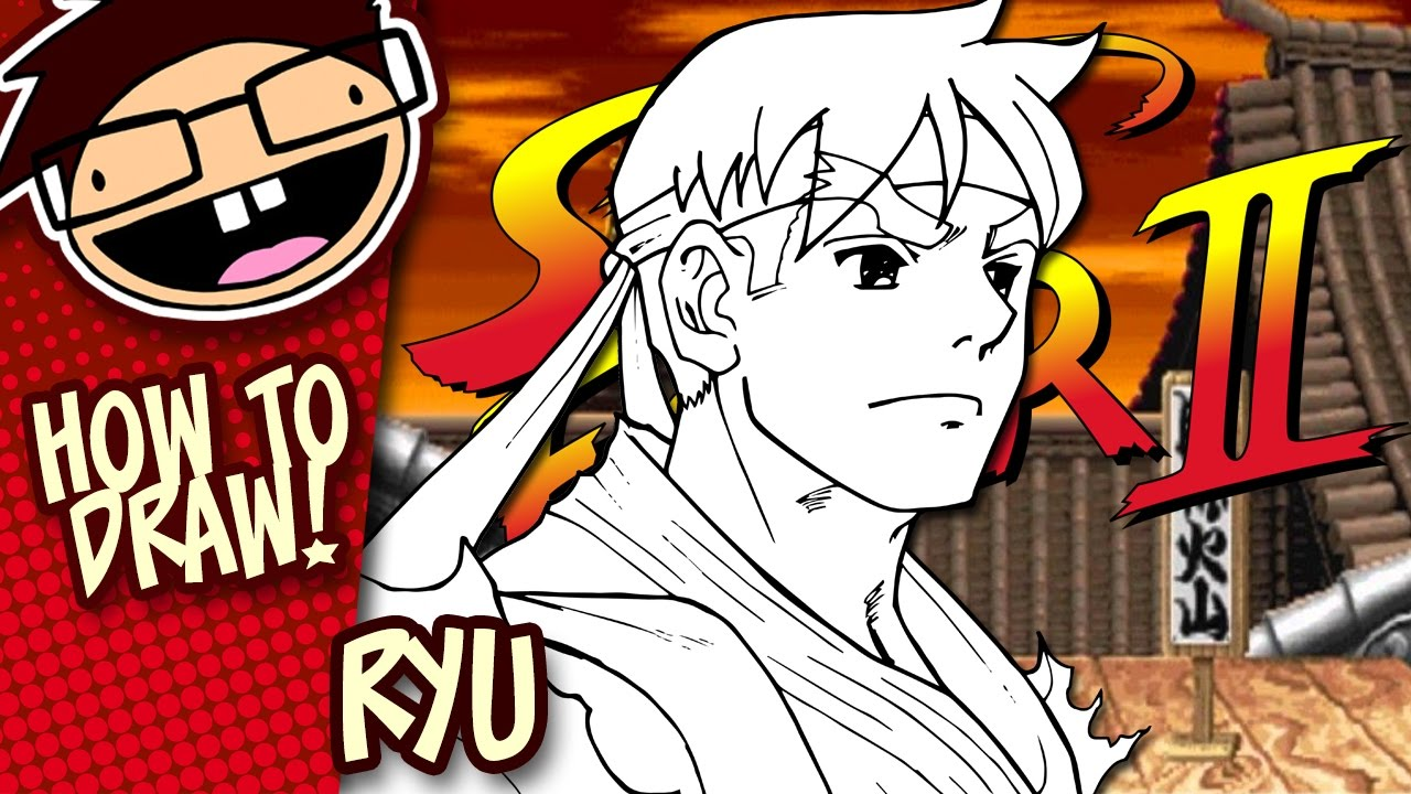 How To Draw Ryu Street Fighter Narrated Easy Step By Step