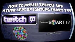 Samsung Smart TV F Series - Installing Twitch and Other Apps
