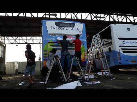 Asean Games on proggres branding busway transjakarta