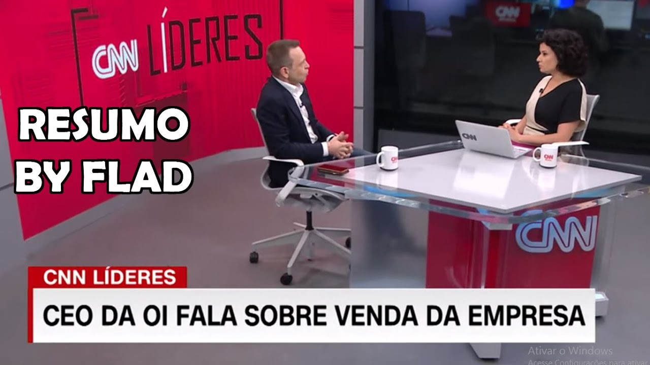 OIBR3/OIBR4 CEO da Oi Rodrigo Abreu na CNN - Resumo