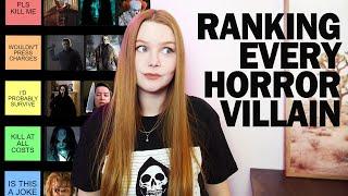 RANKING EVERY HORROR VILLAIN | TIER LIST