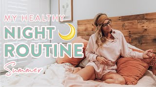 My HEALTHY Night Routine Summer 2020 | Skincare + Healthy Recipes