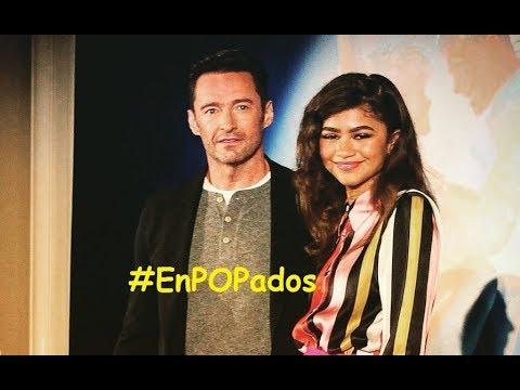 """HUGH JACKMAN y ZENDAYA en MÉXICO Conferencia de prensa """"EL GRAN SHOWMAN"""" #EnPOPados Dic. 2017"""