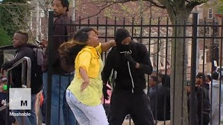 Baltimore mom slaps and scolds rioting son in front of everyone | Mashable