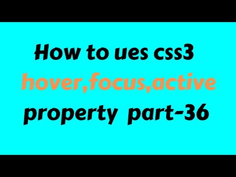 CSS3 Beginner Tutorial 2019 Bangla part 36 hover focus active condition thumbnail