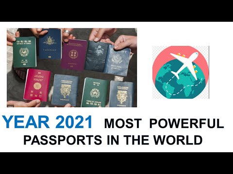 2021 Most Powerful Passports In The World || 199  Countries Ranking Visa Free Travel