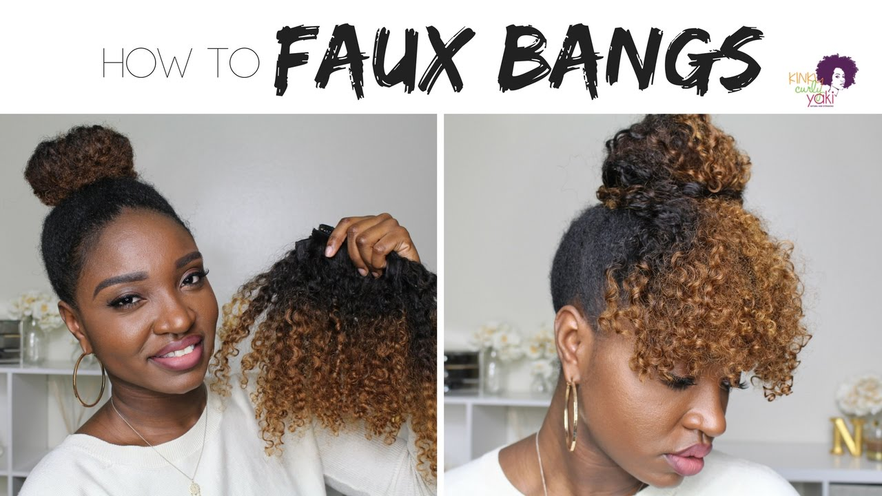 Protective Style: Faux Curly Bangs