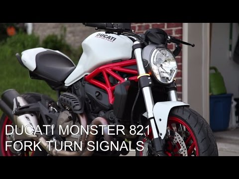 Ducati Monster 821 >> Ducati Monster 821 | New Rage Cycles Snap-On Fork Turn Signals Install - YouTube