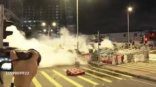 Tear Gas Fired At Hong Kong Protesters(1 July 2019)