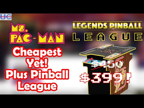 AtGames Legends Pinball League Announced With Big Prizes and Arcade1up Ms. Pac-Man Update! from Unqualified Critics