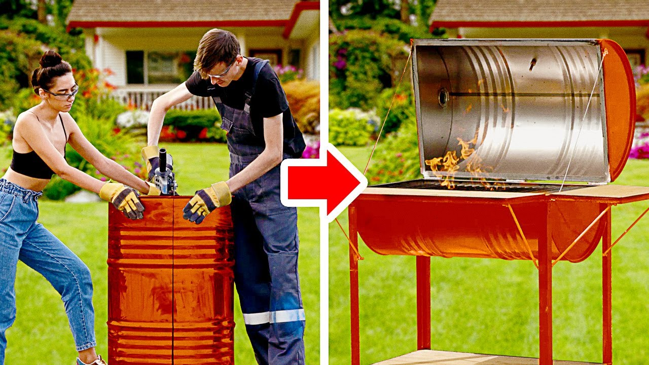 CREATIVE HANDMADE PROJECTS || DIY Grill For BBQ, Case For AirPods And Miniature House!