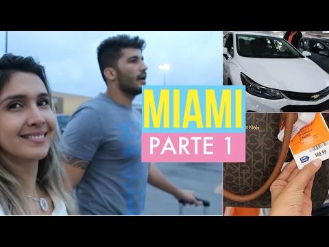 Miami - Chegada, Aluguel de carro, Quarto do Hotel, Bubba Gump e comprinhas!