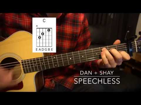 Easy Guitar Lesson Wchords Dan Shay Speechless Youtube