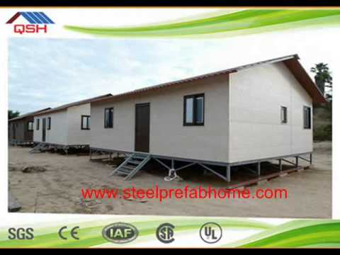 Low Cost Prefabricated Sandwich Panel Wall Cladding Light Steel Villa / prefabricated villa / light
