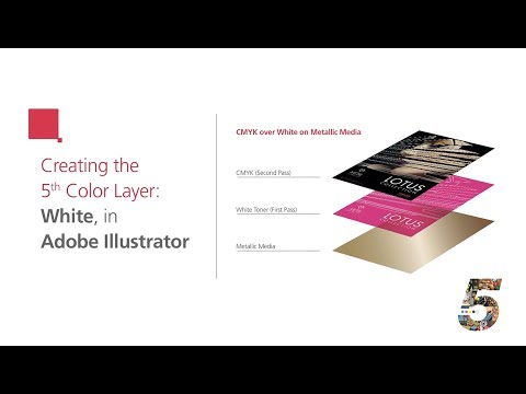 Create the 5th Color Layer — White, for use on Metallic Media