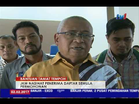 BANTUAN TAMAT TEMPOH - JKM NASIHAT PENERIMA DAFTER SEMULA PERMOHONAN [2 FEB 2017]