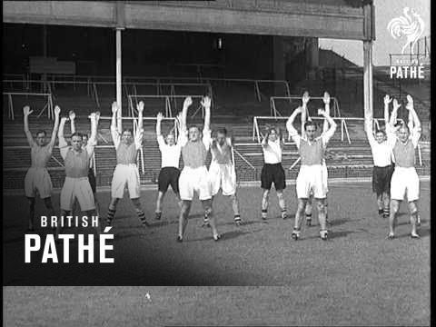 Arsenal In Training At Highbury (1937)