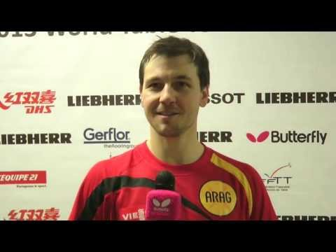 WTTC 2013 Timo Boll Interview Tuesday May 14