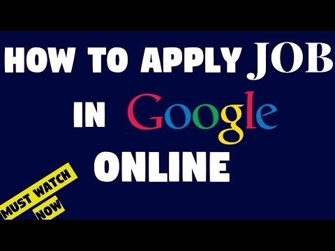 How to Apply Job in Google online