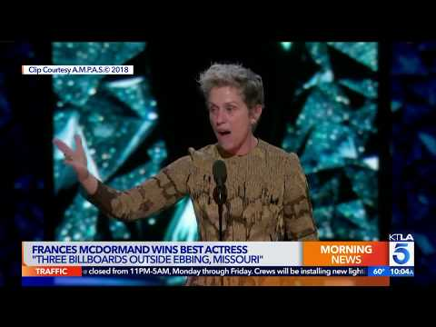 Frances McDormand Reunited with her Lost Oscar