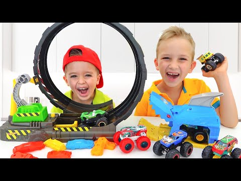 Nikita Play With Hot Wheels Monster Truck