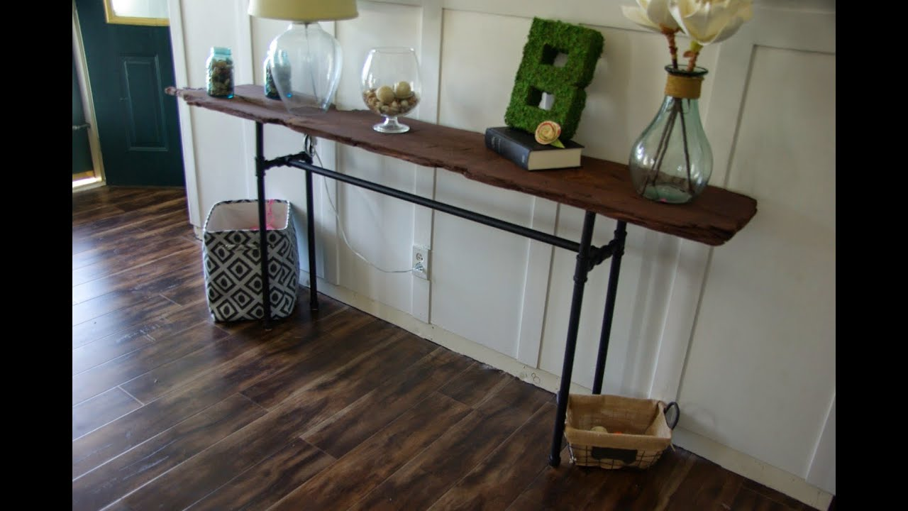 Gorgeous Black Pipe Console Table Ideas