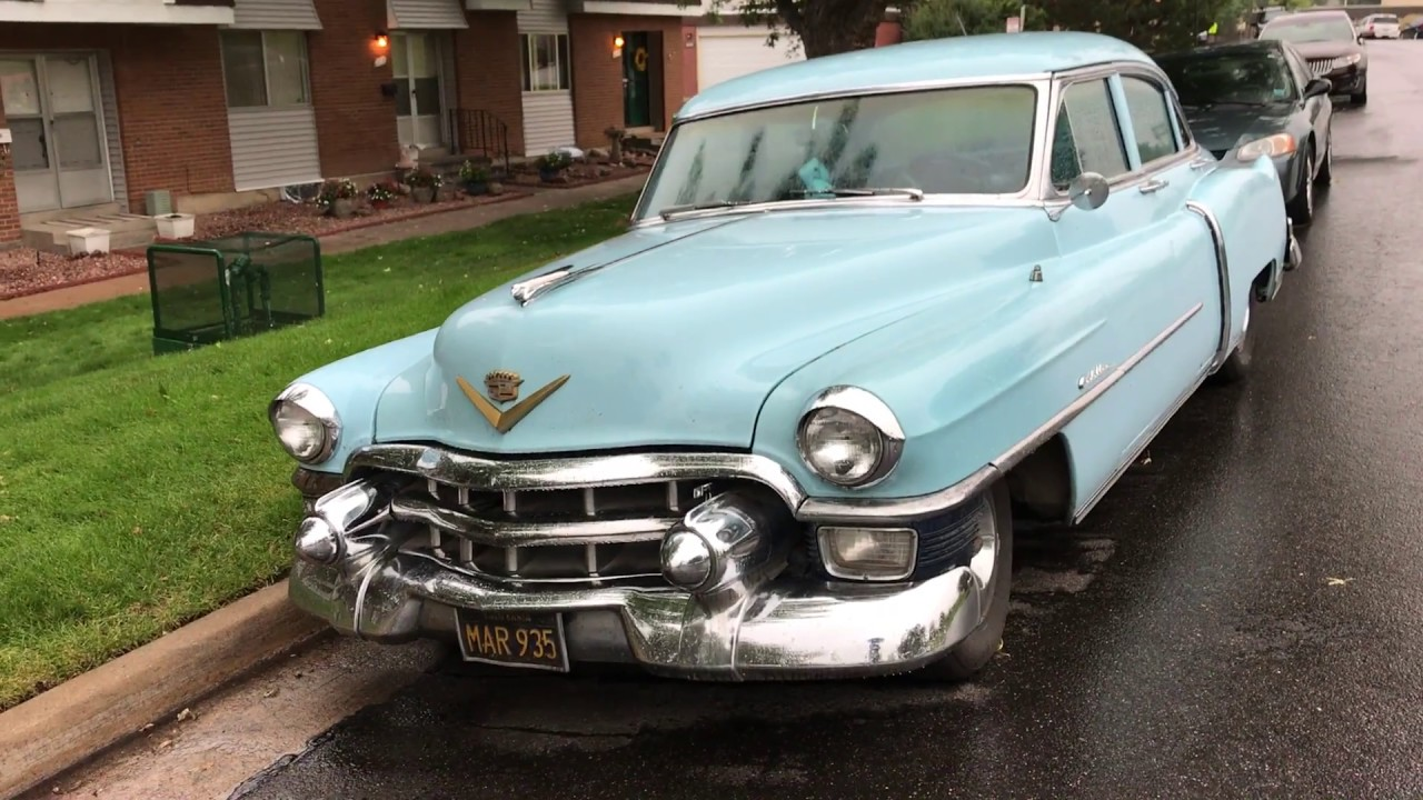 A baby blue 1953 Cadillac - YouTube