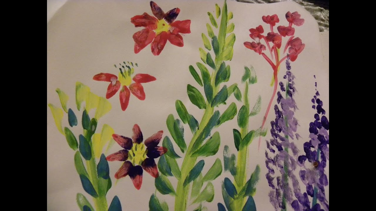 Garden Flower Art science and art for kids:painting garden flowers - youtube