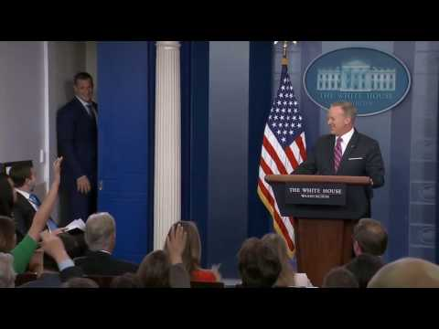 Gronk Interrupts Sean Spicer's White House News Conference | ESPN Must-See