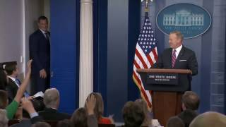 Gronk Interrupts Sean Spicer's White House News Conference | ESPN