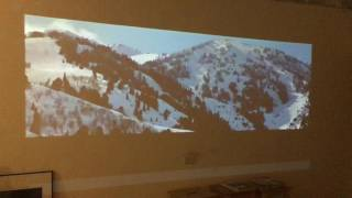 BenQ i500 播放全螢幕 full HD 實錄影片