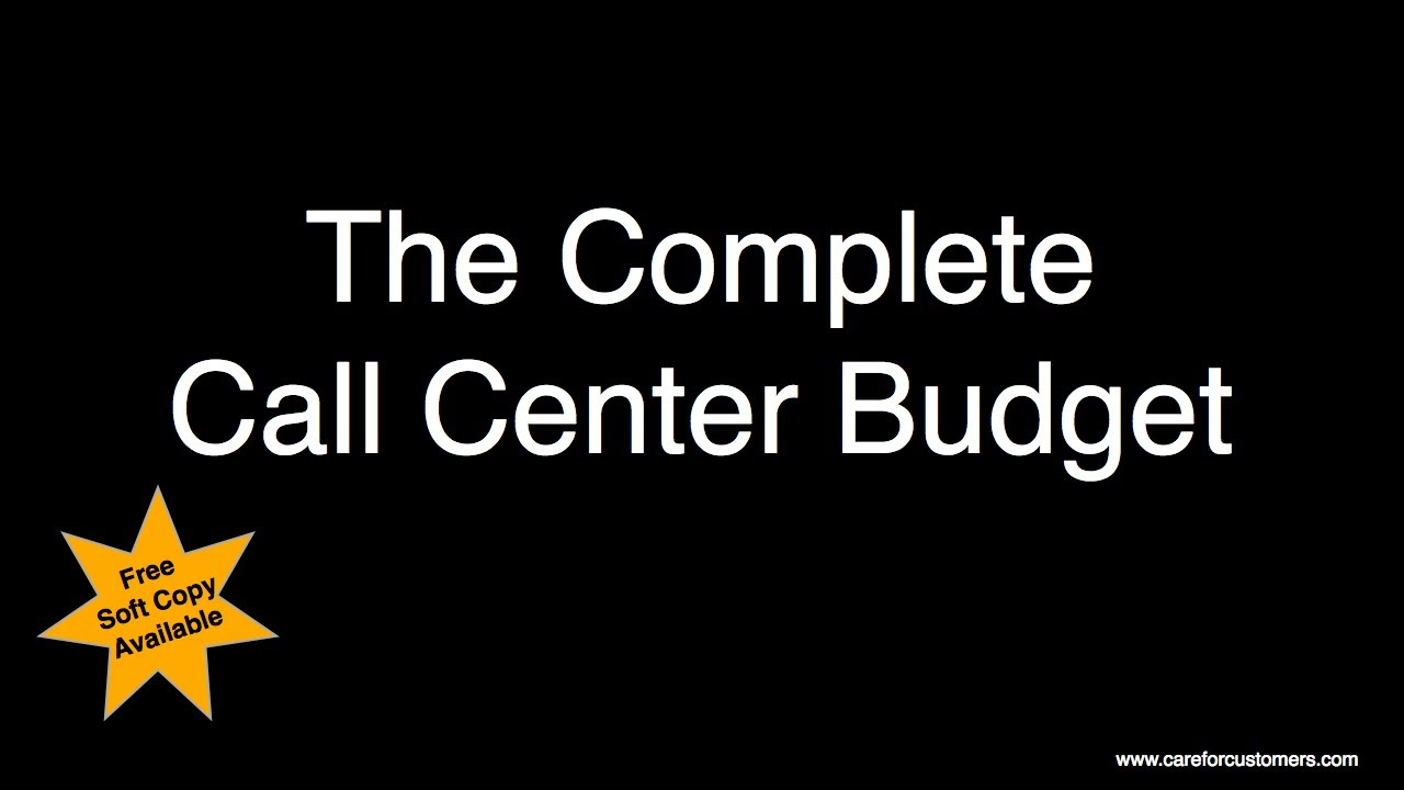 List Of Call Centers Call Centre Budget Complete List Of Items For Your Budget