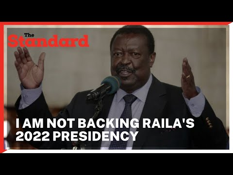 Musalia Mudavadi says he won't back Raila Odinga in 2022 presidential election