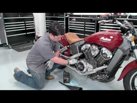 Indian Scout Oil Change
