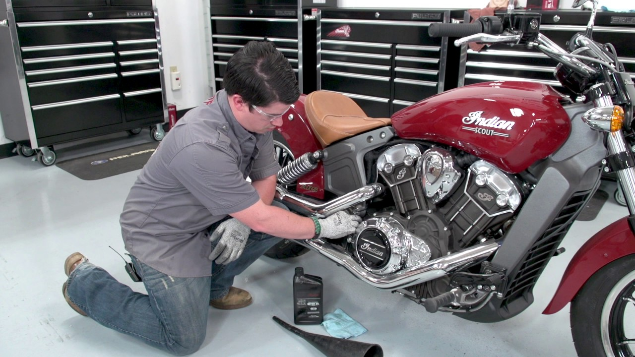 VIDEO: Indian® Scout® Oil Change | Indian Motorcycle