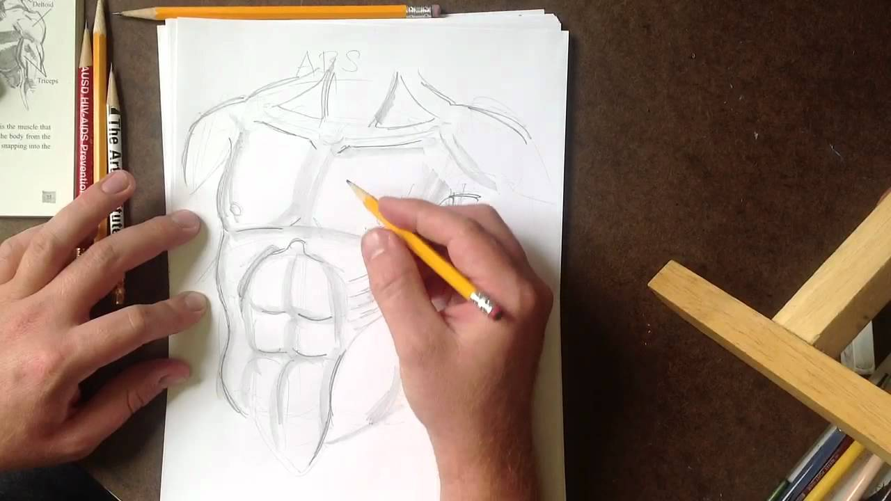 How To Draw Killer Abs (real Time)