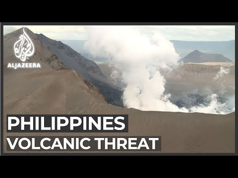 Philippines volcanic eruption